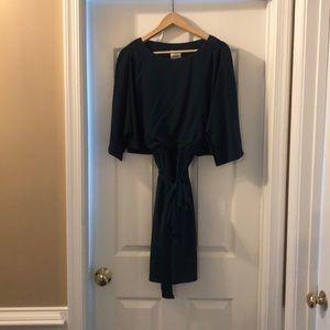 Blue silk maggy boutique dress